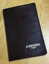 LONGINES Vintage Chrono Wallet Certificate Holder Brown Conquest Master Heritage