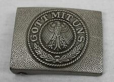 FIELD GREY WW1 GERMAN ARMY BELT BUCKLE REPRODUCTION GOTT MIT UNS