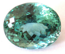 19x15.7 mm 30.6 cts Oval Fancy Lab Created Green Spinel
