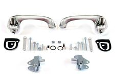 NEW! 1967-1968 Mustang Outside Door Handles, Hardware Chrome Pair Scott Drake