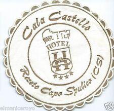 SOTTOBICCHIERE STOFFA BIRRA CALA CASTELLO HOTEL ROSETO CAPO SPULICO CM 10