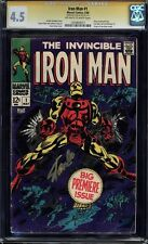 IRON MAN #1 CGC 4.5 OWW PAGES SS STAN LEE SIGNED CGC #1203804017