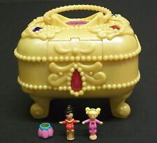 Vintage Polly Pocket - Rare Jewel Secrets, Handle, Dolls, Skirt.