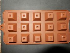15 holes Silicone Pyramid Shape Mould Jelly Ice Candy Chocolate Cake