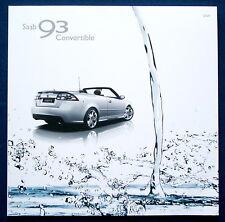 Prospectus brochure 2009 saab 9-3 CABRIO * convertible (usa)