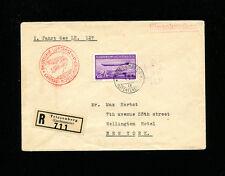 Zeppelin Sieger 408B  LZ129 1936 1st North America Flight  Liechtenstein Post