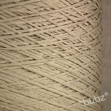 TAUPE 4 PLY ITALIAN TAPE YARN 1,000g CONE / 20 BALLS CHAINETTE COTTON FEEL BROWN