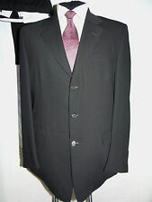 YVES SAINT LAURENT (YSL) SMART CLASSIC DESIGNER BLACK SUIT JACKET UK 42L EU 52L