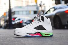 Nike Air Jordan 5 Retro 136027-115 White/Infrared 23-Poison Green Mens Size 11