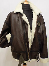 Sheepskin Style Bomber Flying Jacket Fleece lined Aviator B3 Luftwaffe