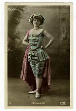 c 1905 French Cabaret Music Hall Melle. FERNANDE Dancer Dance photo postcard