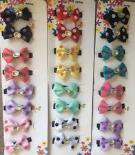 New Bow Hair Clip Lot, 24 pc Wholesale Lot  US Seller ❤️️💝💘💗🎀