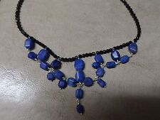 $170 Jay King Sterling Silver Black Agate & Azurite Necklace HSN SOLD OUT