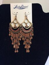 Lucky Brand Gold-Tone Orange Carnelian Chandelier Earrings $ 45 Item 106