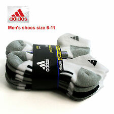 ADIDAS Athletic 6Pair Climalite Compression Cushioned Low Cut Socks Mens Sports