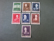 *AUSTRIA, SCOTT # B245-B251(7) COMPLETE SET SEMI-POSTAL 1948 ART ASSOCIATION USE