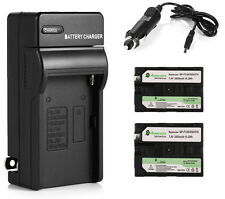 2x NP-F330 Battery for Sony NP-F550 NP-F570 NP-F750 NP-F960 F970 F770 + Charger