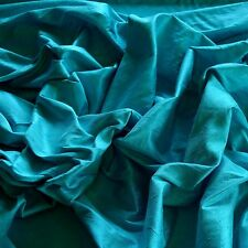 "Turquoise Dupioni Silk, 100% Silk Fabric 54"" Wide, By The Yard (S-188)"