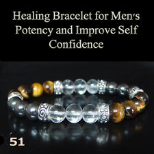 Bracelet for Men's potency sex performance  improve self-confidence chakra gem