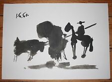 "Picasso XL 4Tone offsetlitho 'Pass with the cape"" 1996 on Arches Vellum Ragpaper"