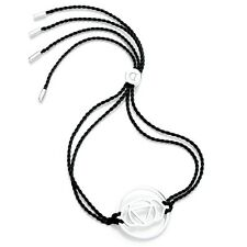 Daisy Jewellery NEW! Black Cord Sterling Silver Brow Chakra Adjustable Bracelet