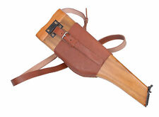 GERMAN MAUSER BROOMHANDLE LEATHER HOLSTER AND STOCK -31458