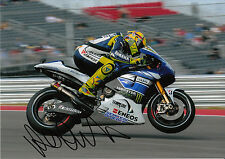 Valentino Rossi Hand Signed Monster Energy Yamaha 12x8 Photo 2013.