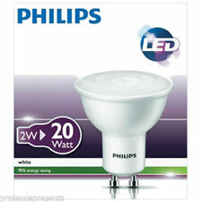 10x Philips 2W=20W 3000K Warm White Energy Saving GU10 LED Spotlight Light Bulbs