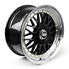 BBS RS Alloy Wheels Rim Sports Mags 17X8 5X100 ET35 Sets of 4 BLACK