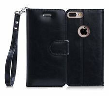 Apple iPhone 7 Plus Wallet Case 100% Handmade Stand Credit Card RFID Leather New
