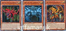 YuGiOh God Cards 3 Card Set  Sliffer Obelisk and Winged Dragon Of Ra, Ultra LDK2