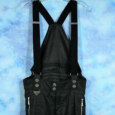 Spyder Ski Bibs Mens Medium Entrant GII Thinsulate Black Pants Snowboard FLAWS