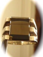 Men's sterling silver smokey quartz   ring new old found jewelry stock size 9
