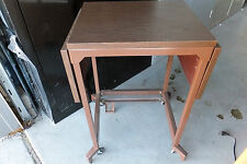 Used Heavy Duty Printer/Typing Table, Steel frame, Laminate Top, lift foot lever