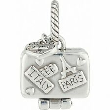 BRIGHTON BON VOYAGE SUITCASE LUGGAGE TRAVEL ITALY PARIS LONDON ABC CHARM PENDANT
