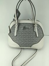 Women's GUESS Brand Black White SCORN Satchel Handbag - $90 MSRP - 15% off