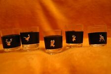 Set of 5 shot glasses with black leather band and hunting animal *bundle*