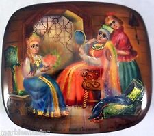 Russian Lacquer box Fedoskino the Tale of the Scarlet Flower Mother of Pearl HP