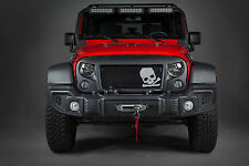 Angry Eyes Grill for 2007- 2016 Jeep Wrangler, Unlimited with Skull & Crossbones