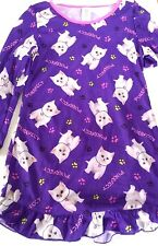 KOMAR KIDS KITTENS PURPLE SLEEP SHIRT GIRLS SMALL 6/6X NWT