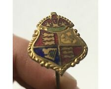 Antique Enamel United Kingdom  Royal Standard Coat of Arms Hatpin Hat Pin