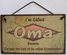 Oma s Sign Retro Grandma Vintage Best Mom Cool Mother Day Parent Gift Decor