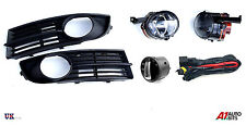 VW TOURAN 2003-2006 FOG LIGHTS LAMPS GRILLE KIT SET + WIRING & HEADLIGHT SWITCH