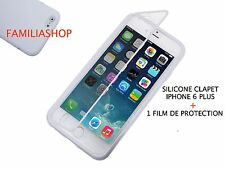 Funda caso billetera carcasa solapa silicona transparente iphone 6 5.5 PLUS
