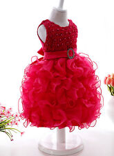 DARK PINK BOWPRINCESS  DRESS SKIRT FOR BABY GIRL KIDS- BIRTHDAY, PARTY 2-3 Years