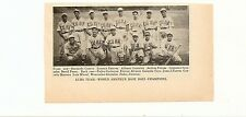 Cuba Baseball 1939 Team Picture World Amateur Champions