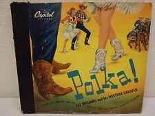 """TEX WILLIAMS & Western Caravan POLKA 10""""/78 rpm 4-Record Book Set Capitol AD-56"""