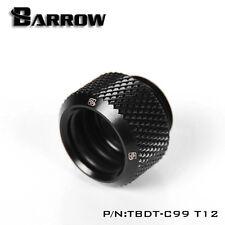 """Barrow G1 / 4 """"NERO OPACO PUSH RACCORDO PER TUBI di acrilico 12 mm"""