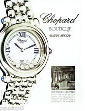 PUBLICITE ADVERTISING 066  2000  Chopard  boutique montre Happy Sport