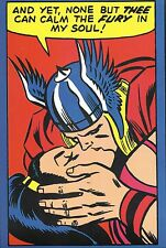 THOR - NONE BUT THEE PRINT Marvel Thor Kissing Lady Sif